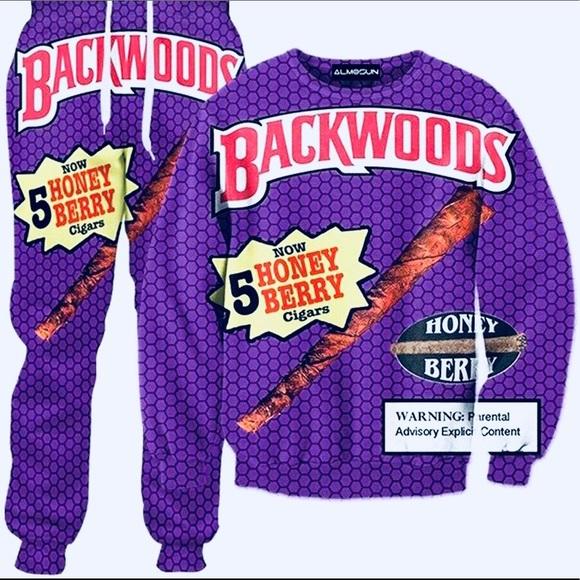 Backwoods Tracksuit honey berry crewneck joggers NWT